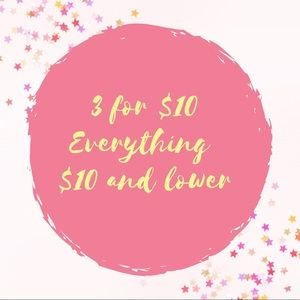 3 for $10 Sale!!!!
